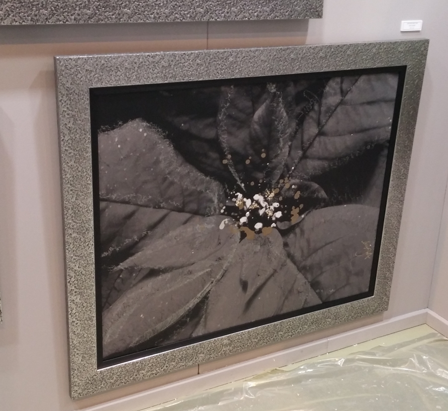 Framed photo on aluminium: 120cm x 100cm