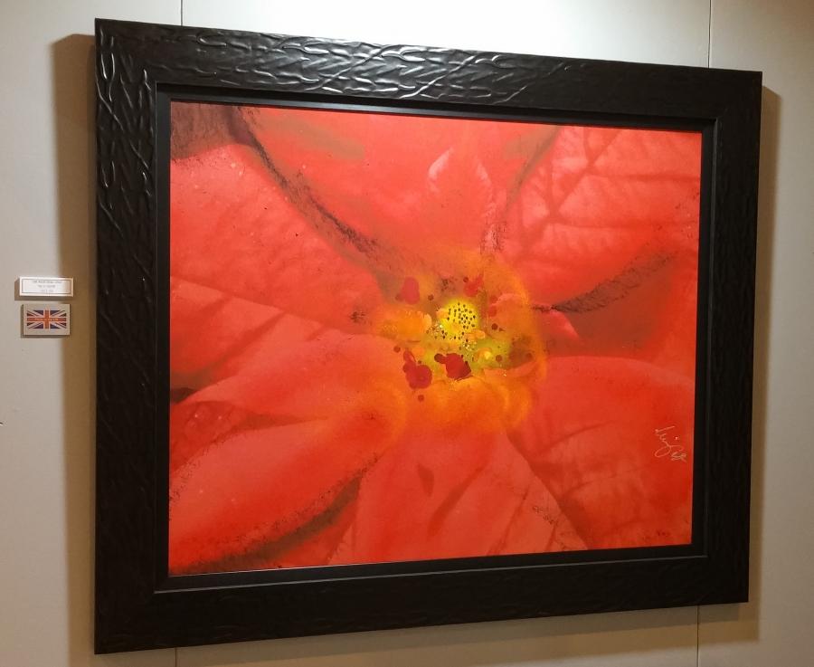 Framed photo on aluminium: 120cm x 100cm